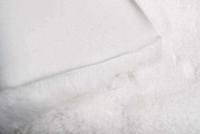 Faux fur by the metre Super soft white rabbit style faux fur fabric – 3105 S. White