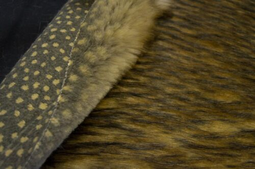 Faux fur by the metre Faux fur fabric by the meter, imitation raccoon, brown with black tipping – 1536 Grey Beige