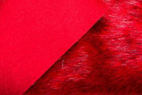 Faux fur by the metre Luxurious long haired red fox imitation faux fur fabric by the meter – 7552 Scarlet
