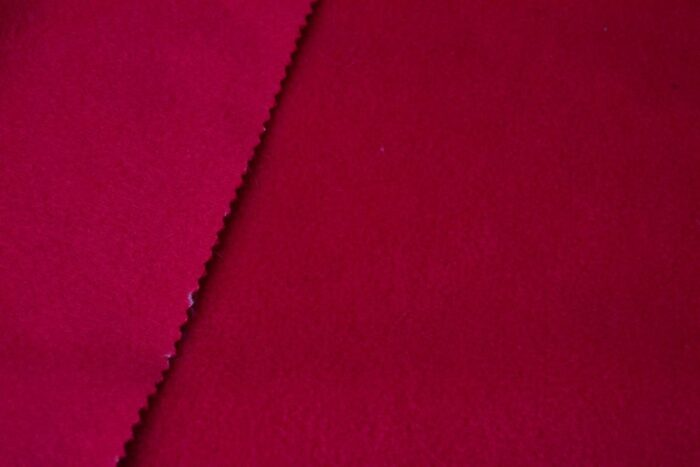 Fleece fabric Plain Red Lambskin Fleece by the metre, Anti-Pilling – BT Red