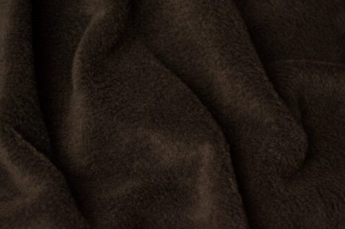 Fleece fabric Plain Chocolate Brown Lambskin Fleece by the metre, Anti-Pilling – Chocolate