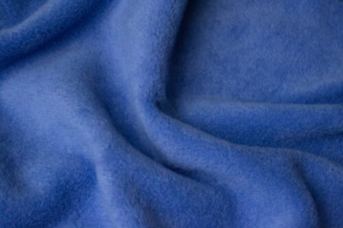 Fleece fabric Plain Night Blue Lambskin Fleece by the metre, Anti-Pilling – Dark Sky