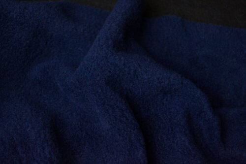 Fleece fabric Plain Navy Blue Lambskin Fleece by the metre, Anti-Pilling – Navy