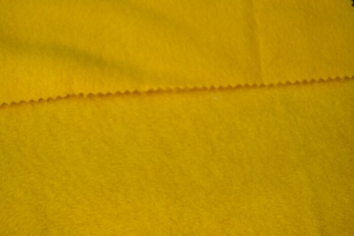 Fleece fabric Plain Yellow Lambskin Fleece by the metre, Anti-Pilling – Yellow
