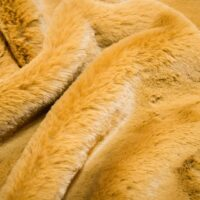 Faux fur by the metre Super soft gold rabbit style faux fur fabric – 2R333 Autumn Gold