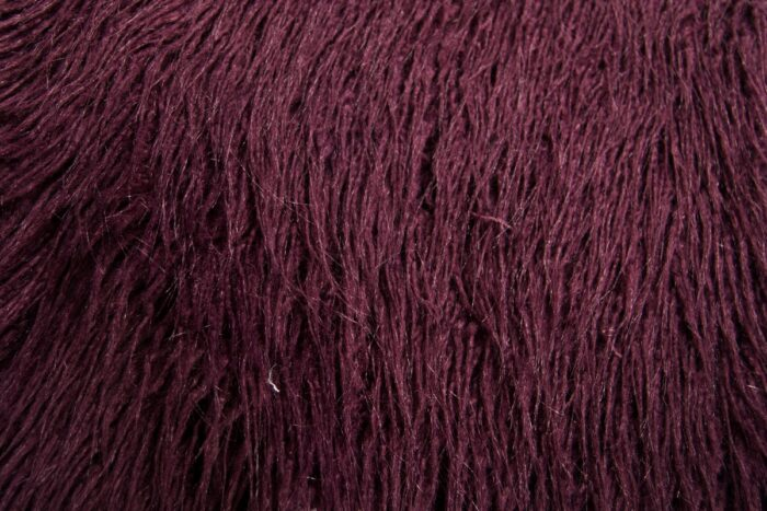 Faux fur by the metre Super Soft Long Haired Faux Fur Fabric By The Metre, purple plum color – 1424 Plum