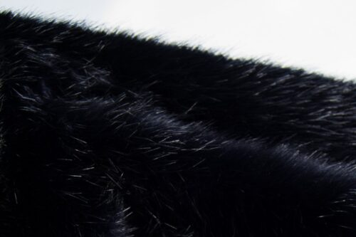 Faux fur by the metre Luxury quality navy blue mink imitation fur fabric – 1535 navy