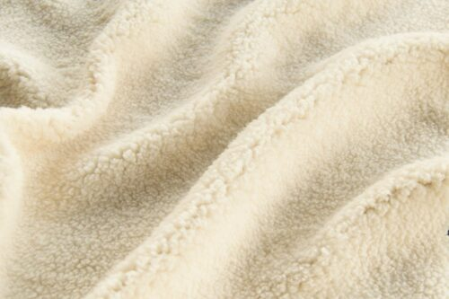 Faux fur by the metre Super Soft Cream Sherpa Fleece Faux Fur Fabric By The Metre – 2R307 cream