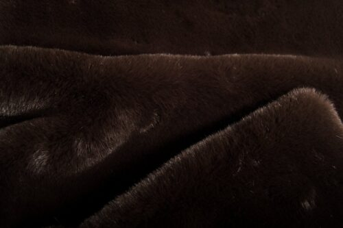 Faux fur by the metre Super soft brown rabbit style faux fur fabric – 2R333 Mole