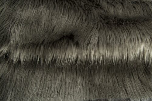 Faux fur by the metre Luxurious long haired grey fox imitation faux fur fabric by the meter – 7552 Grey