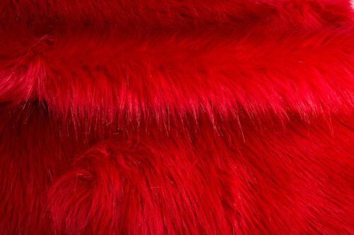 Faux fur by the metre Luxurious long haired bright red fox imitation faux fur fabric by the meter – 7552 Red Haze