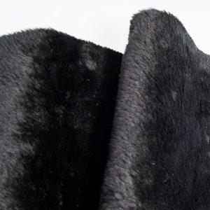 Budget faux fur Low Price Black Shorthaired Faux Fur – AC274-Black