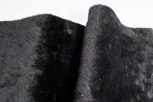 Faux fur by the metre Low Price Black Shorthaired Faux Fur – AC274-Black