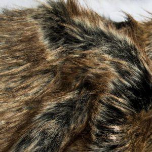 Faux fur by the metre Super Soft Fox Imitation Faux Fur Fabric By The Metre – 1575 Black Gold