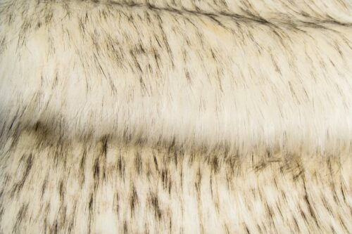 Faux fur by the metre Super Soft Fox Imitation Faux Fur Fabric By The Metre – 1575 White Black