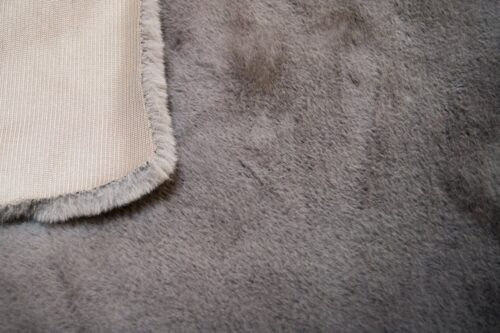 Faux fur by the metre Super soft Dusk Blue rabbit style faux fur fabric – 2R330 Grey