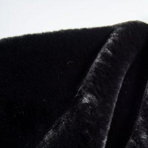 Faux fur by the metre Super soft black rabbit style faux fur fabric – 2R329 Black
