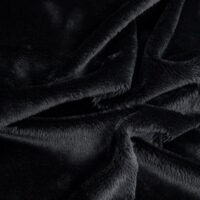 Faux fur by the metre Black Shorthaired Super Soft Faux Fur Fabric By The Metre – 2R340 Black
