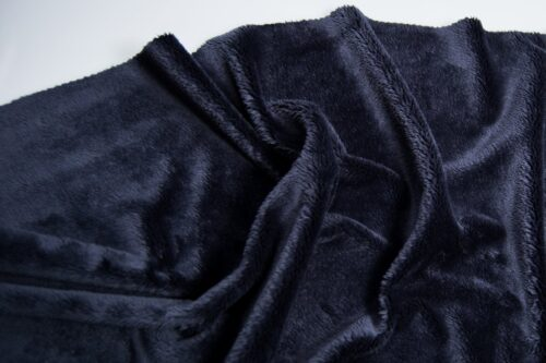 Faux fur by the metre Navy Blue Shorthaired Super Soft Faux Fur Fabric By The Metre – 2R340 Navy