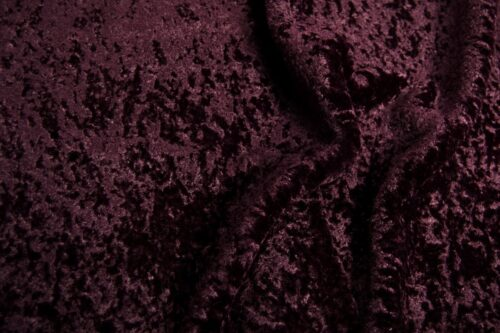 Faux fur by the metre Super Soft Aubergine Short-haired and Curly Faux Fur Fabric by The Metre – 2R355 Aubergine