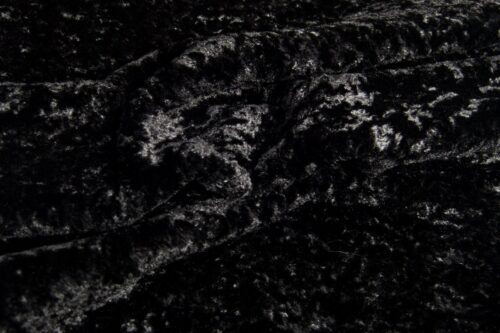 Faux fur by the metre Super Soft Black Short-haired and Curly Faux Fur Fabric by The Metre – 2R355 Black