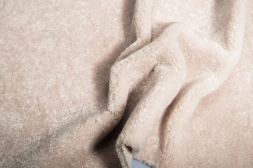 Faux fur by the metre Super Soft Cream Short-haired and Curly Faux Fur Fabric by The Metre – 2R355 Cream