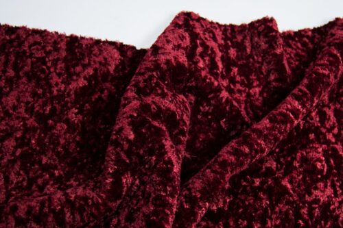 Faux fur by the metre Super Soft Grape Red Short-haired and Curly Faux Fur Fabric by The Metre – 2R355 Grape Red