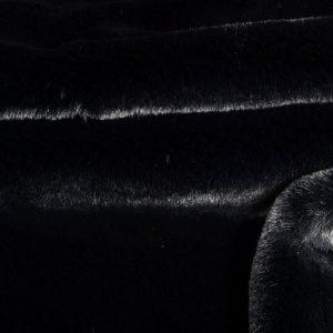 Faux fur by the metre Super soft faux fur fabric imitating rabbit, black – 3091 Black