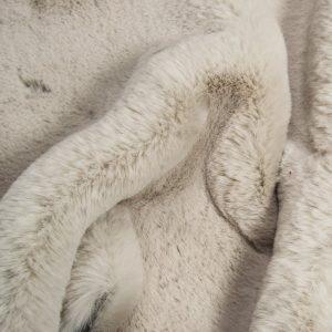 Faux fur by the metre Super soft faux fur fabric imitating rabbit, silver grey – 3091 Silver