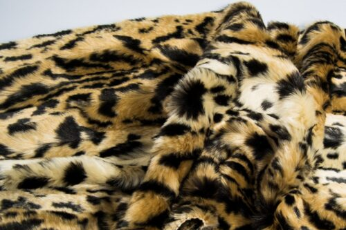 Faux fur by the metre Faux fur fabric by the metre beige/black jaguar imitation – 1554 Beige/Black