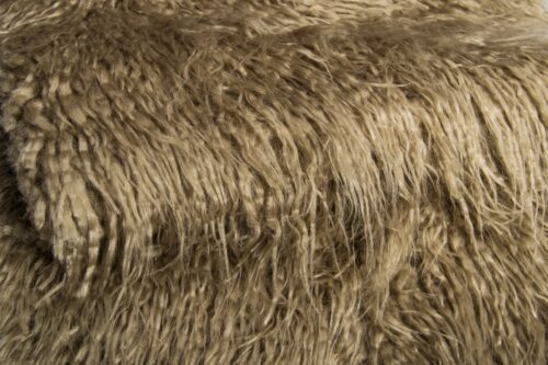 Faux fur by the metre Hessian Mongolian Fake Fur Fabric – 1591 Hessian