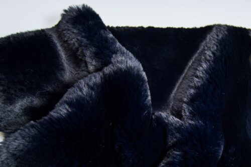 Faux fur by the metre Super soft Dark Blue rabbit style faux fur fabric – 3105 Dk.Blue