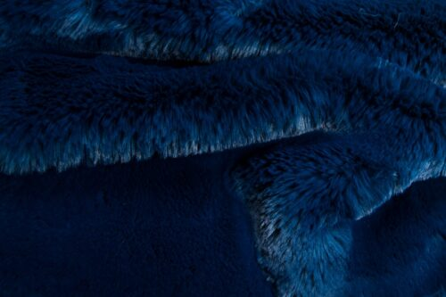 Faux fur by the metre Super soft Night Blue rabbit style faux fur fabric – 3105 Night Blue