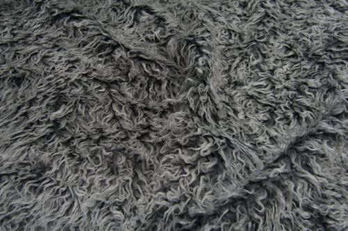 Budget faux fur Low price grey frost curly faux fur fabric – AC530 Grey Frost