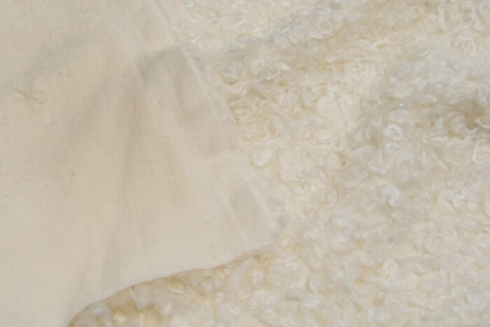 Faux fur by the metre Low price ivory curly faux fur – AC530 Ivory