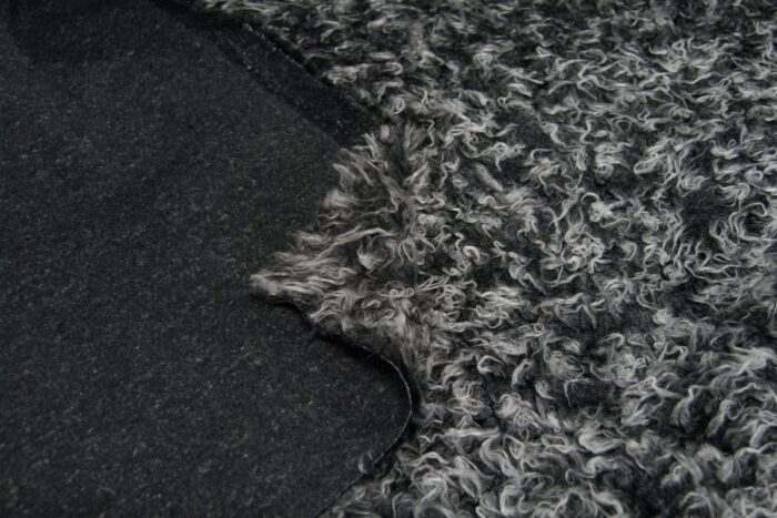 Faux fur by the metre Low price black frost curly faux fur – AC530 Black Frost