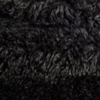 Budget faux fur Low price black curly faux fur fabric – AC444 Black