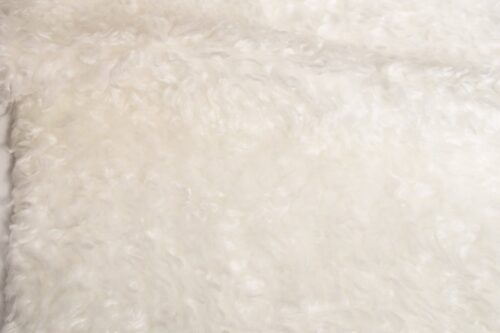 Faux fur by the metre Low price ecru curly faux fur – AC444 Ecru