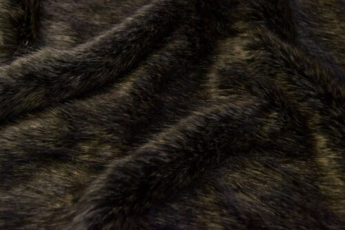 Faux fur by the metre Luxurious brown fox faux fur fabric by the meter – 1405 Brown