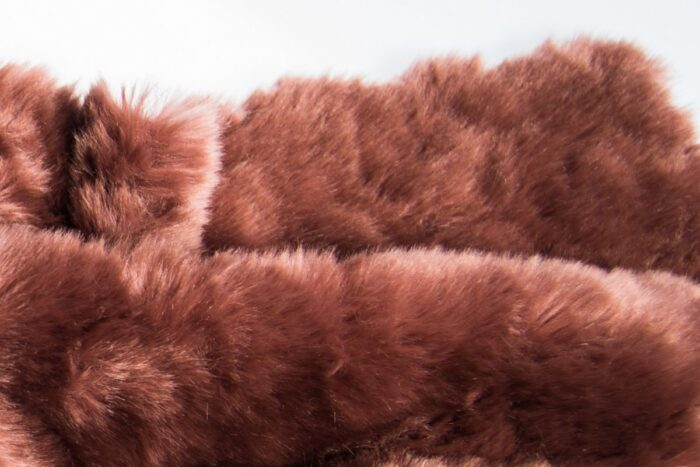 Faux fur by the metre Super Soft Old Rose Textured Faux Fur Fabric By The Metre – 1518 Old Rose