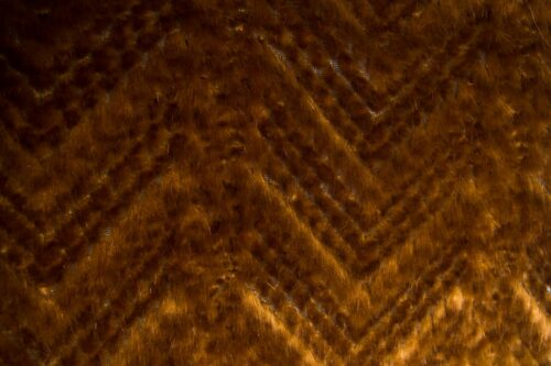 Faux fur by the metre Super Soft Textured Chevron Brown Faux Fur Fabric By The Metre – 1520 Bronze