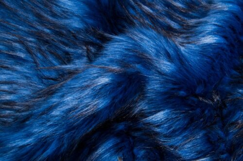 Faux fur by the metre Faux fur fabric by the meter, imitation raccoon, dark blue – 1546 Dark Blue