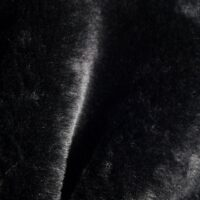 Faux fur by the metre Black Faux Fur Fabric By The Metre Rabbit Imitation- 1555 Black