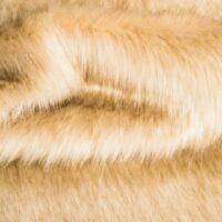 Faux fur by the metre Beige Fox Faux Fur Fabric By The Metre – 1611 Beige