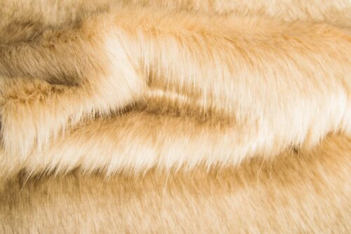 Faux fur by the metre Beige Fox Faux Fur Fabric By The Metre – 1611 Beige