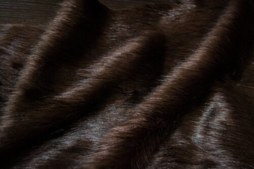 Faux fur by the metre Brown Fox Faux Fur Fabric By The Metre – 1611 Brown