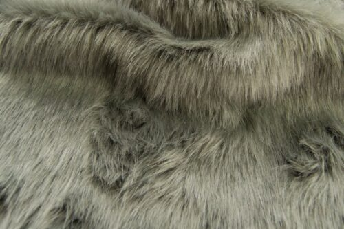 Faux fur by the metre Grey Fox Faux Fur Fabric By The Metre – 1611 Grey