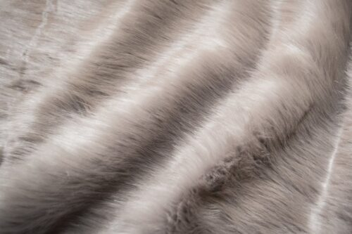 Faux fur by the metre Smoke Grey Fox Faux Fur Fabric By The Metre – 1611 Smoke Grey
