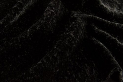 Faux fur by the metre Black Astrakan Faux Fur Fabric By The Metre – 1632 Black