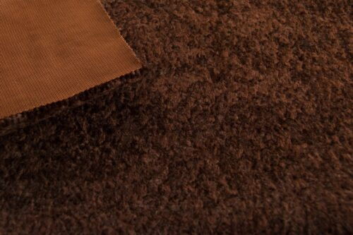 Faux fur by the metre Brown Astrakan Faux Fur Fabric By The Metre – 1632 Brown
